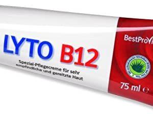 Lyto B12 1 Tube Spezial-Pflegecreme bei Neurodermitis und Psoriasis mit Vitamin B12, Grander-Wasser - ohne Kortison 75 ml