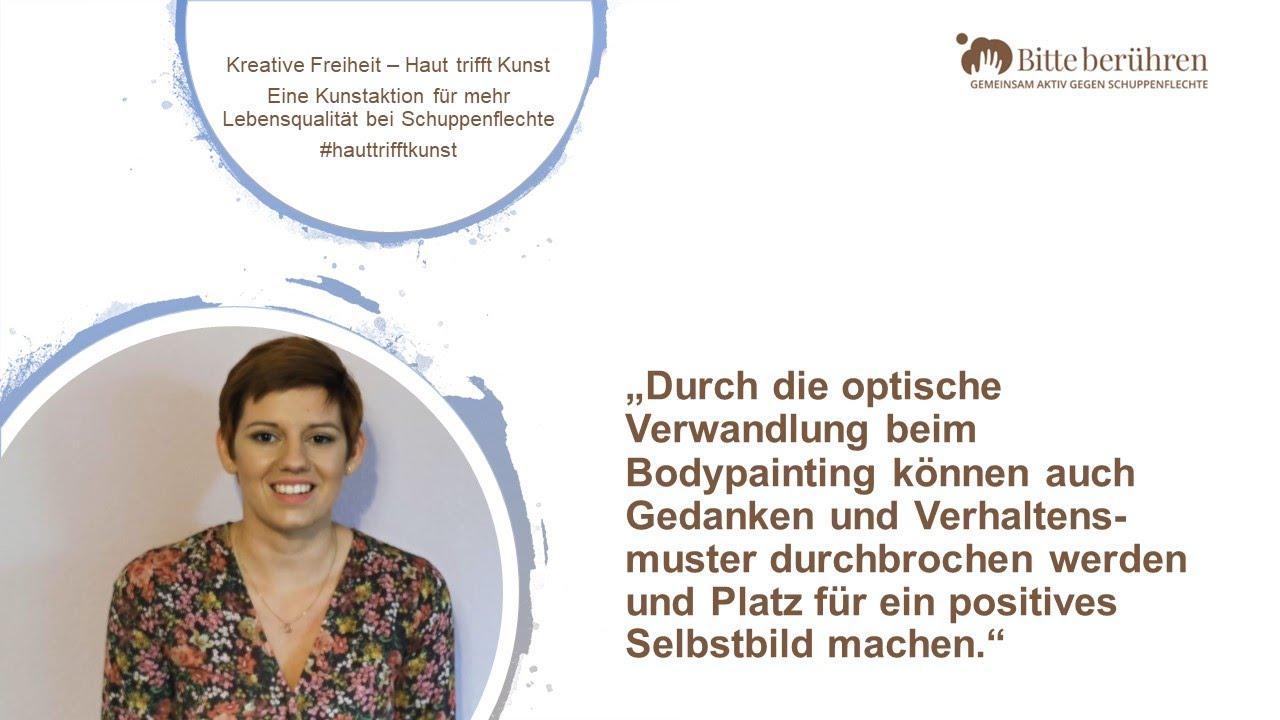 Positives Selbstbild auch bei Schuppenflechte: Larissa spricht über das Bodypainting