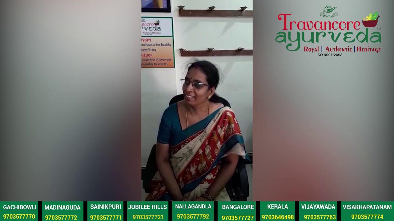 Psoriasis Testimonial given by Roopa Vani @ Travancore Ayurveda Vijayawada