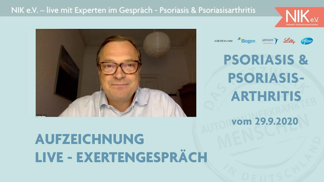 Live mit Experten im Gespräch: Thema Psoriasis & Psoriasisarthritis